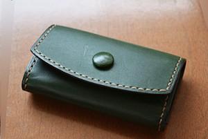 コンパクトなキーホルダー緑