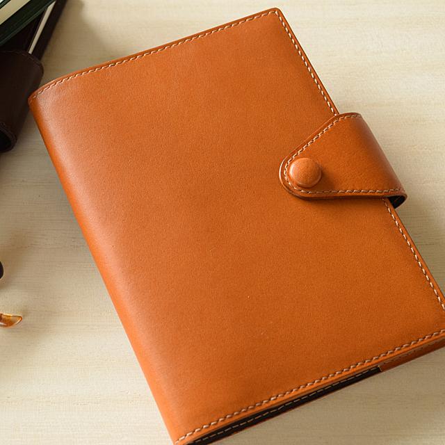 シンプル手帳カバー・A6 キャメル