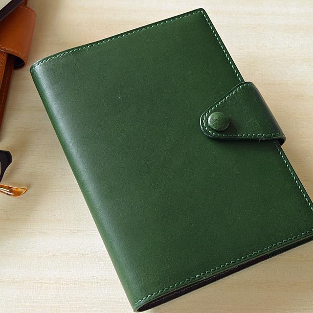 シンプル手帳カバー・A6 緑