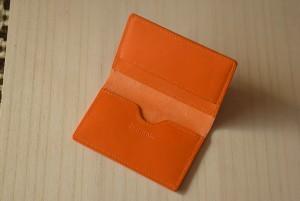 シンプル名刺入れ オレンジ