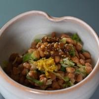 納豆と三升漬と柚子胡椒