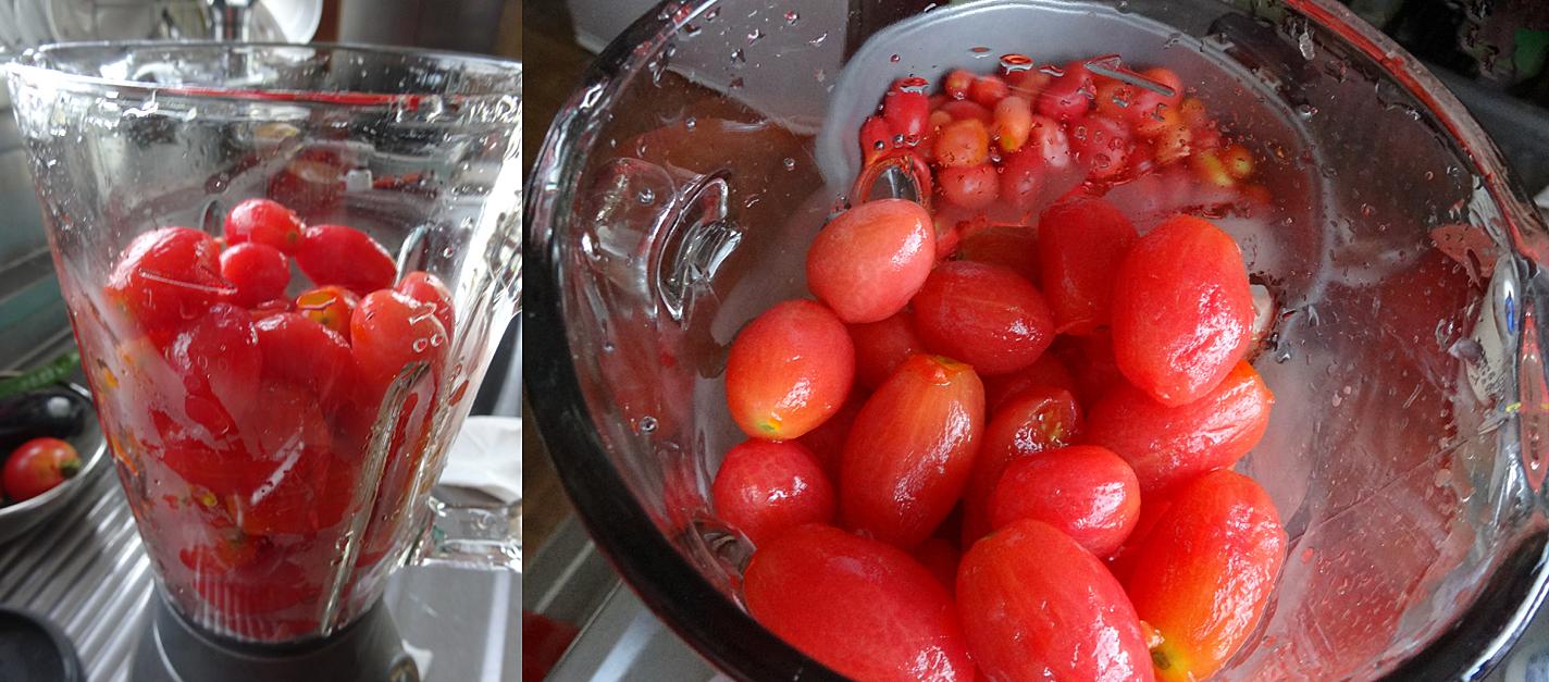 自家製トマトピューレ作り