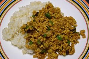 ひき肉と夏野菜のスパイスカレー