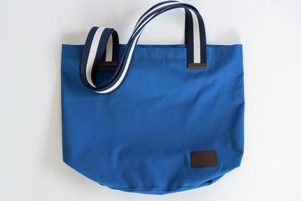 旅歩きトートバッグ ブルー