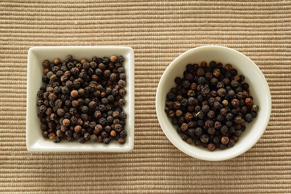 サラワク産とインド産の胡椒