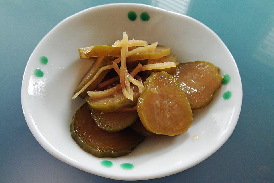 きゅうりと生姜の醤油漬け